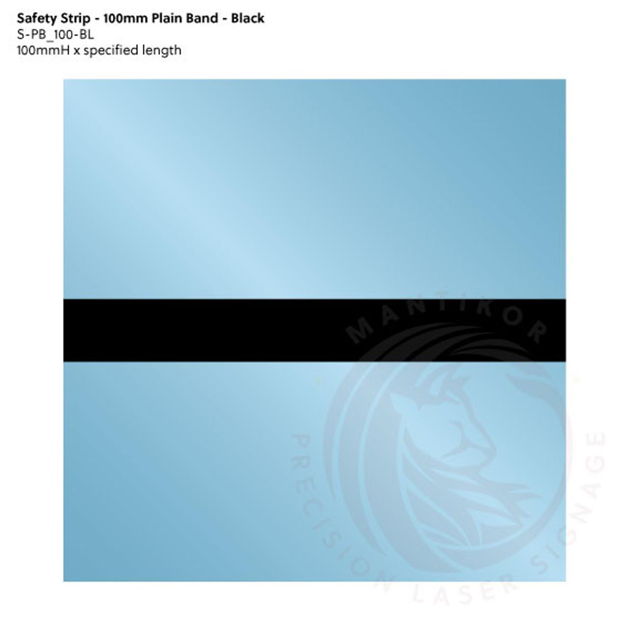 Visibility Strip - 100mm Plain Band - Black