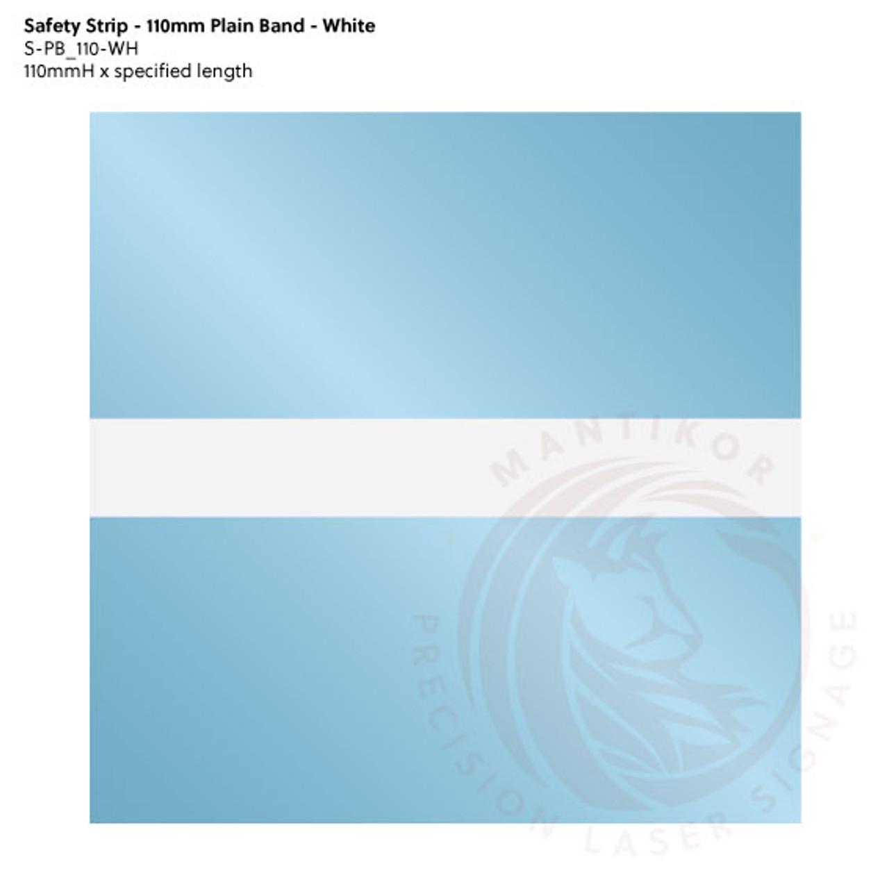 Visibility Strip - 110mm Plain Band - White