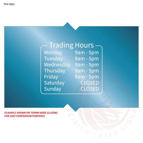 Custom trading hours decal (Small) - Style 2