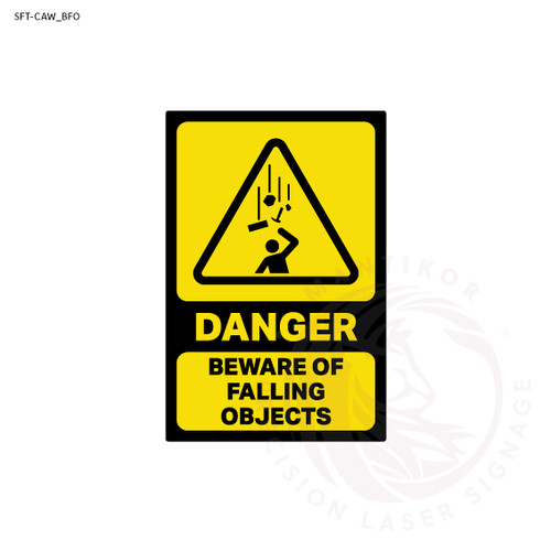 Danger - Beware Falling Objects Sign
