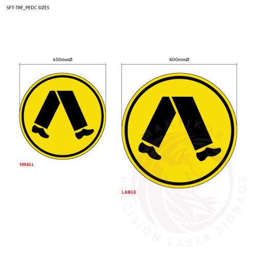 Traffic Signs - Pedestrians - Sign sizes