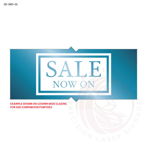 Sale Now On Decal - Style 1 (Classic, Minimalist)