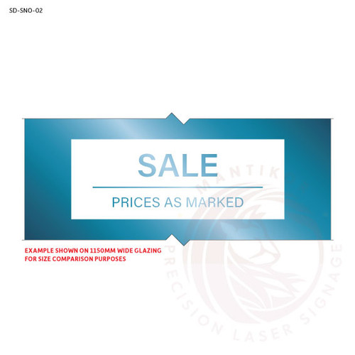 Sale Now On Decal - Style 2 (Modern, Minimalist)