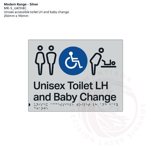 Unisex accessible Toilet LH and Baby Change (MR-S_UATlhBC)