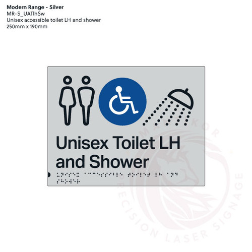 Unisex accessible Toilet LH and shower (MR-S_UATlhSw)