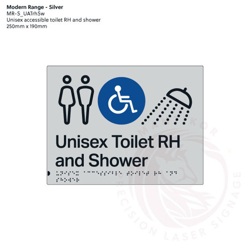 Unisex accessible Toilet RH and shower (MR-S_UATrhSw)