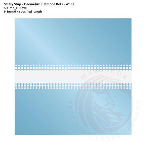 Visibility Strip - Geometrix | Halftone Dots - White