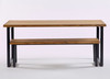 Brinkley Industrial dining table and bench side view