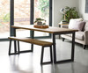 Brinkley Industrial dining table and bench room 2