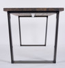 Hoxton Industrial dining table end view