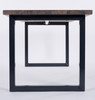 Oxton Industrial dining table and bench end view