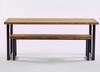 Oxton Industrial dining table and bench side view