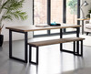 Oxton Square leg Industrial Dining Table