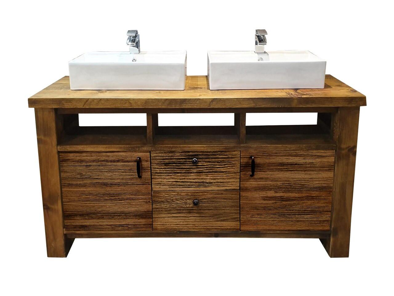 industrial double vanity unit