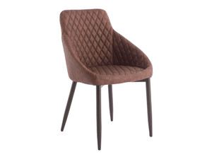 Brown quilted dining chair
