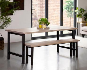 Dorket H Leg Industrial Dining Table