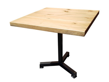 Industrial Square Pedestal leg Dining Table