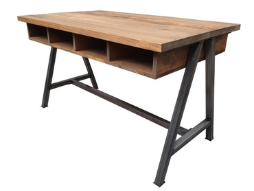 Industrial Standing Desk with storage