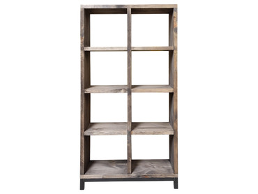 Large Industrial Bookcase with steel base