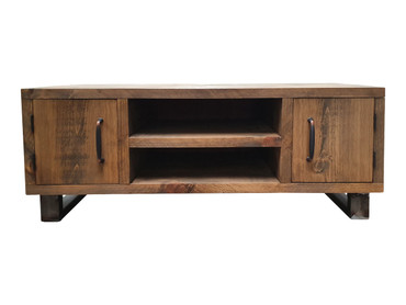 Industrial TV cabinet with cupboards