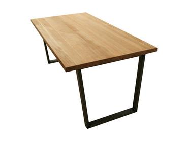 U leg Oak Dining Table