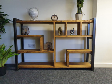 Small  Industrial abstract shelving unit