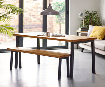 Holme leg Industrial Dining Table