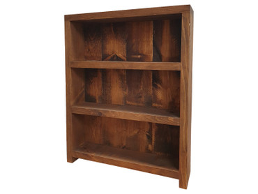 Rustic Bookcase Shelving unit with back