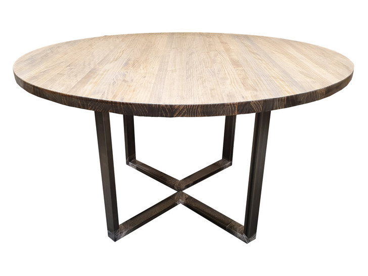 Industrial Round leg Dining Table