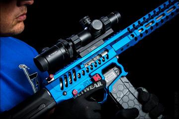 Series 2 Hexmag magazine by SENTRY feeding this F1 rifle.