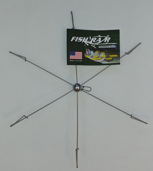 6 arm striper teaser bar.  Umbrella rig for striper fishing.