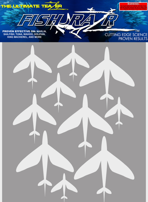 Stencils Flying Fish Schools 10 Sheets