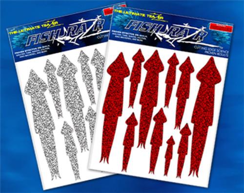 Silver squid Razr's 60 pack.  Squid stickers.