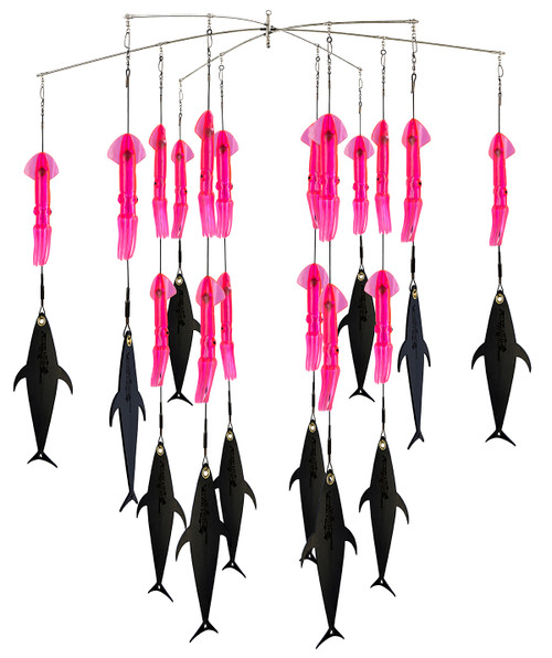 Pink Squid and FlapZ dredge.  Best offshore fishing dredge.