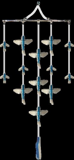 Flying Fish Spreader bar with Marlin Range lure.  Marlin fishing tackle.