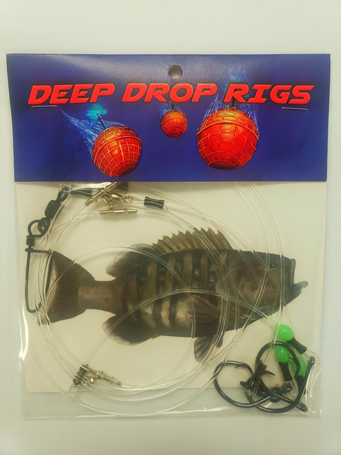 Grouper Deep Drop rig by Three Bouys tackle.  How to fish for Grouper