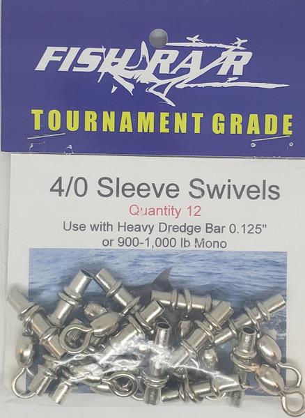 12 pack 4/0 swivel sleeves