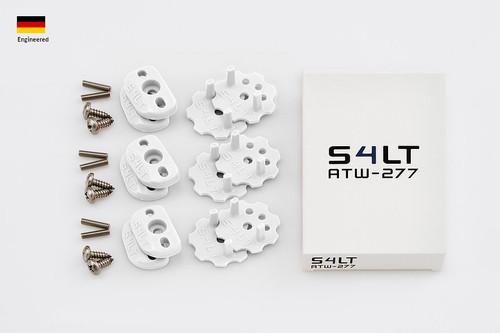 S4LT ATW 277 - White anti-twist washer - Set for 3 footstraps