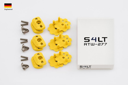 S4LT TW 277 - Yellow anti-twist washer - Set for 3 footstraps