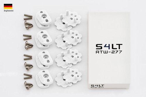 S4LT ATW 277 - White anti-twist washer - Set for 4 footstraps
