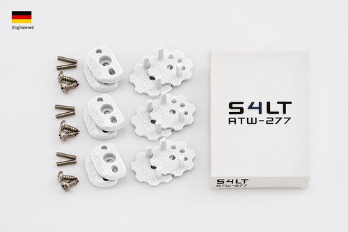 S4LT ATW 277 - White anti-twist washer - Set for 3 footstraps