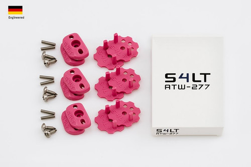 S4LT TW 277 - Pink anti-twist washer - Set for 3 footstraps