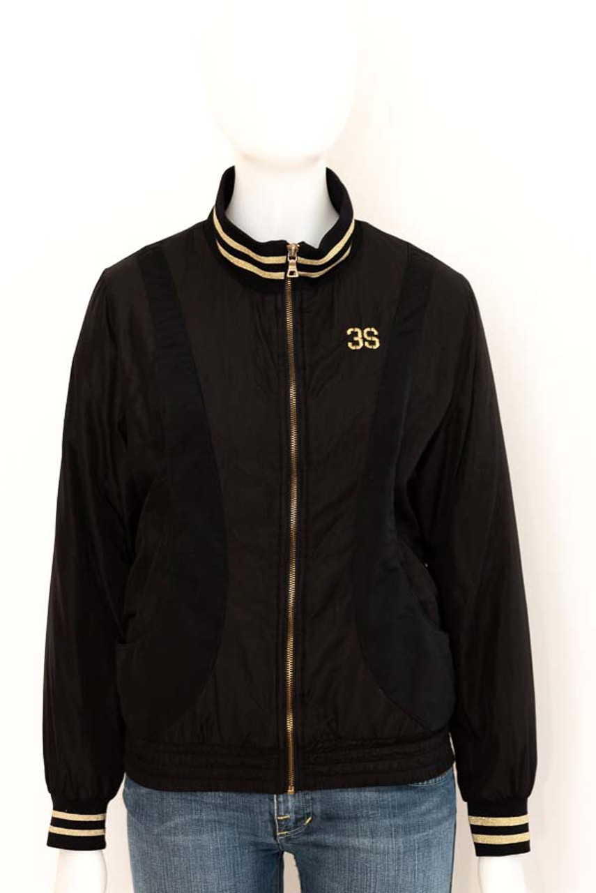 Womens Ssamzie Black And Gold Bomber Jacket Lulus Fashion Flair
