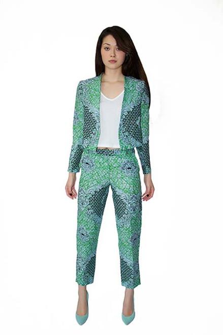 mayamiko baroque green jacket fair trade ethical