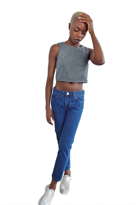 Mayamiko Rebirth Cropped Cotton Shell Top