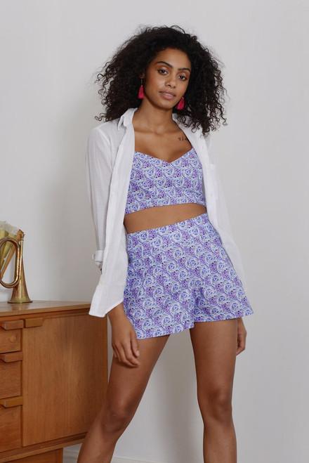 Mayamiko Get Knotted Pastel Crop Top and Shorts