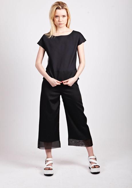 Mayamiko Black Wide Leg Culottes