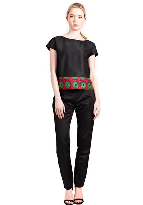 Mayamiko Black Tapered Trousers