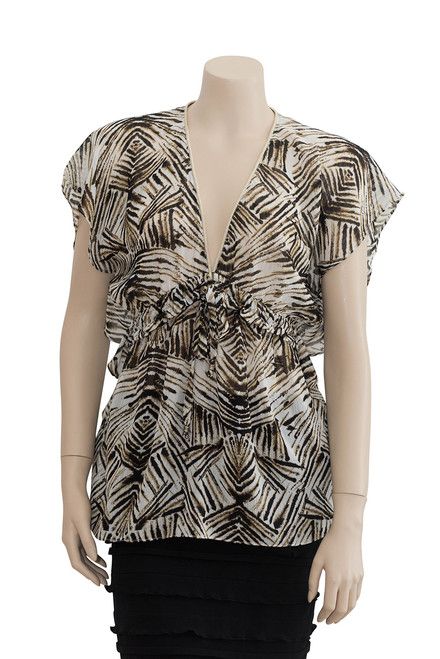 Wayne by Wayne Cooper Sheer Animal Print Top