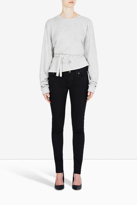 Bon Label Grey Organic Cotton Fleece Tie Sweater